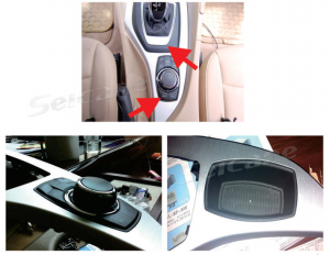 6.Disconnect the decorative materials of the gear stick, lever the plastic cover under the gear stick, and prize it from the left side
