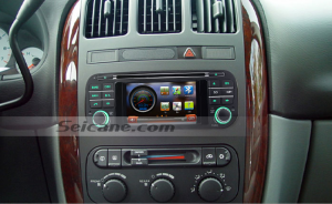 2004 2005 Dodge Neon head unit after installation