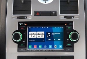 2004-2008 Chrysler Pacifica head unit after installation