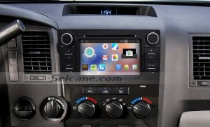 2006-2013 Toyota Tundra car radio after installation