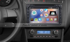 2008-2013 VW Volkswagen Scirocco car stereo after installation