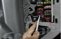 Pry the decoration panel beside the driver's seat, change fuse from 5A TO 10A