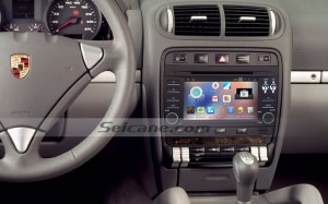 2003-2011 Porsche Cayenne stereo dvd gps after installation