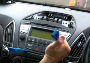 Pry the AC control out of the dash with a plastic knife and unplug all the connectors behind