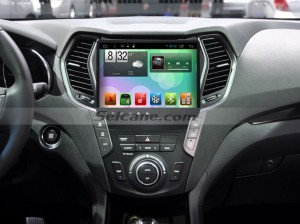 2013 2014 Hyundai Santa Fe IX45 Bluetooth Car Stereo Radio after installation
