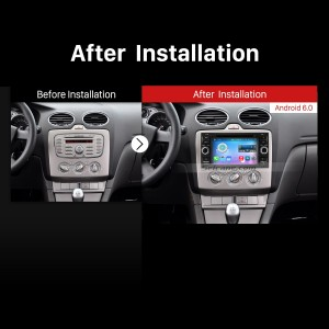 2003-2007 Ford Mondeo Bluetooth DVD GPS Car Radio after installation