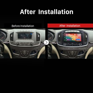 2014 OPEL Insignia GPS Bluetooth DVD Car Radio after installation