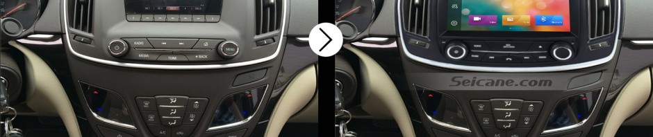 2014 OPEL Insignia GPS Bluetooth DVD Car Radio after installation