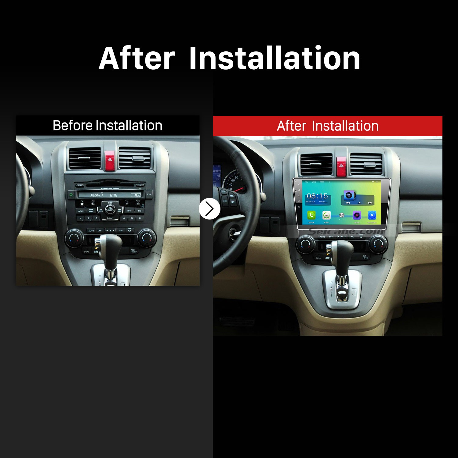 The Removal and Installation Steps on a 2006 2007 2008 2009 2010-2011 Honda CRV GPS Bluetooth ...
