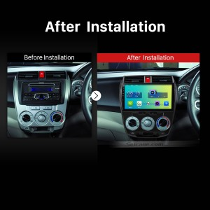2011 2012 2013 2014 2015 2016 Honda CITY  GPS Navi Car Radio after installation