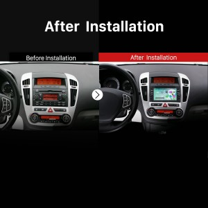2006 2007 2008 2009 2010-2012 KIA Carens Car Radio after installation