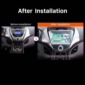2011 2012 2013 Hyundai Avante Car Radio after installation