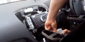 Disconnect all the connectors of the trim panel