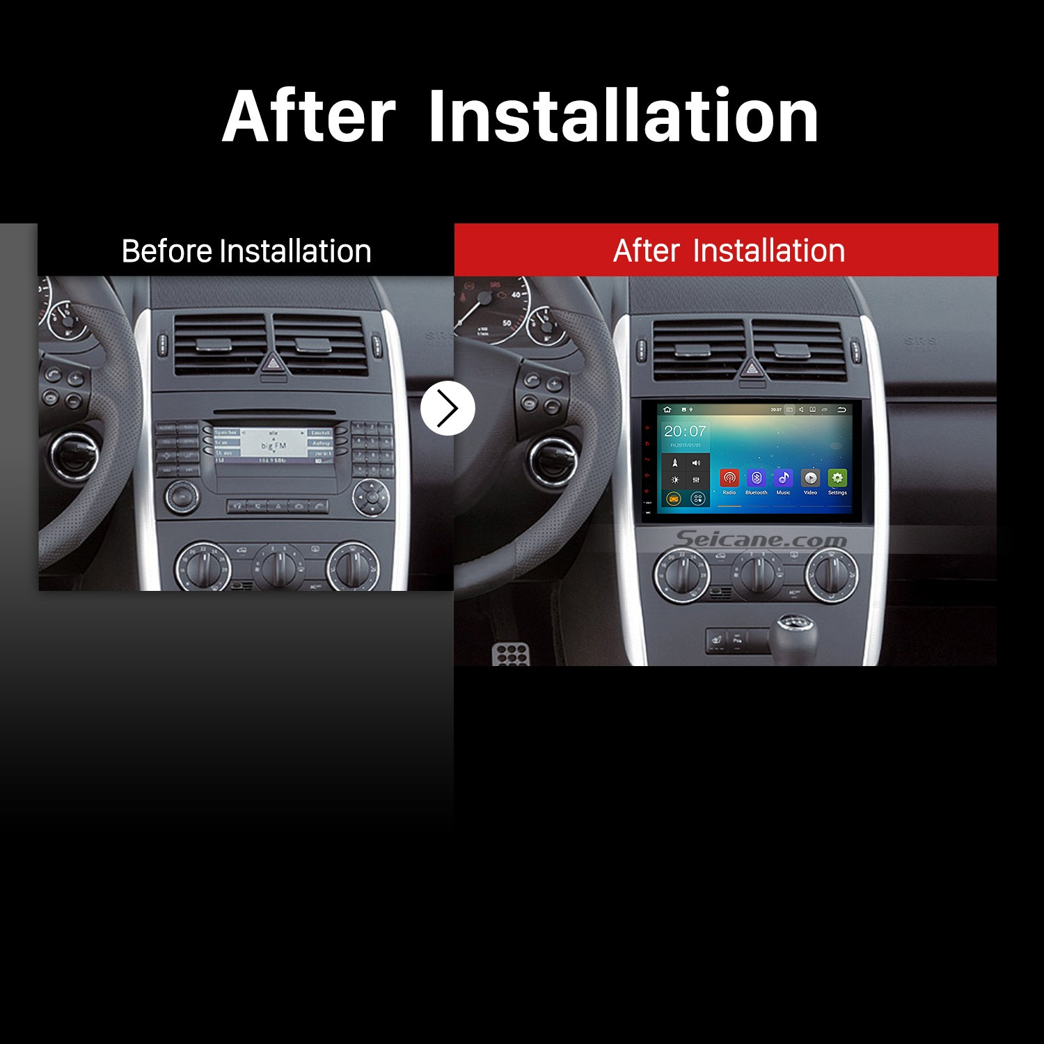 How to install a 2004 2005 2006 2007 2008 2012 mercedes for Mercedes benz stereo installation
