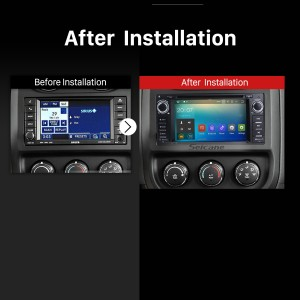 2005 2006 2007 2008 2009-2011 Jeep Grand Cherokee Car Stereo after installation