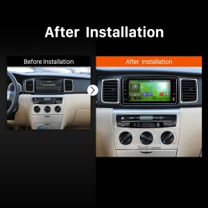 2006 2007 2008 2009-2010 Toyota Terios Car Radio after installation