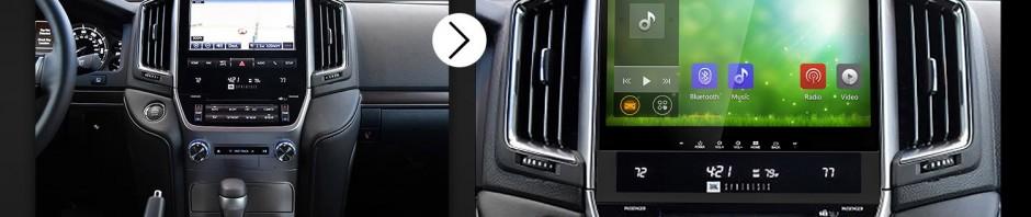 2016 Toyota Land cruiser 200 Bluetooth GPS Car Radio after installation