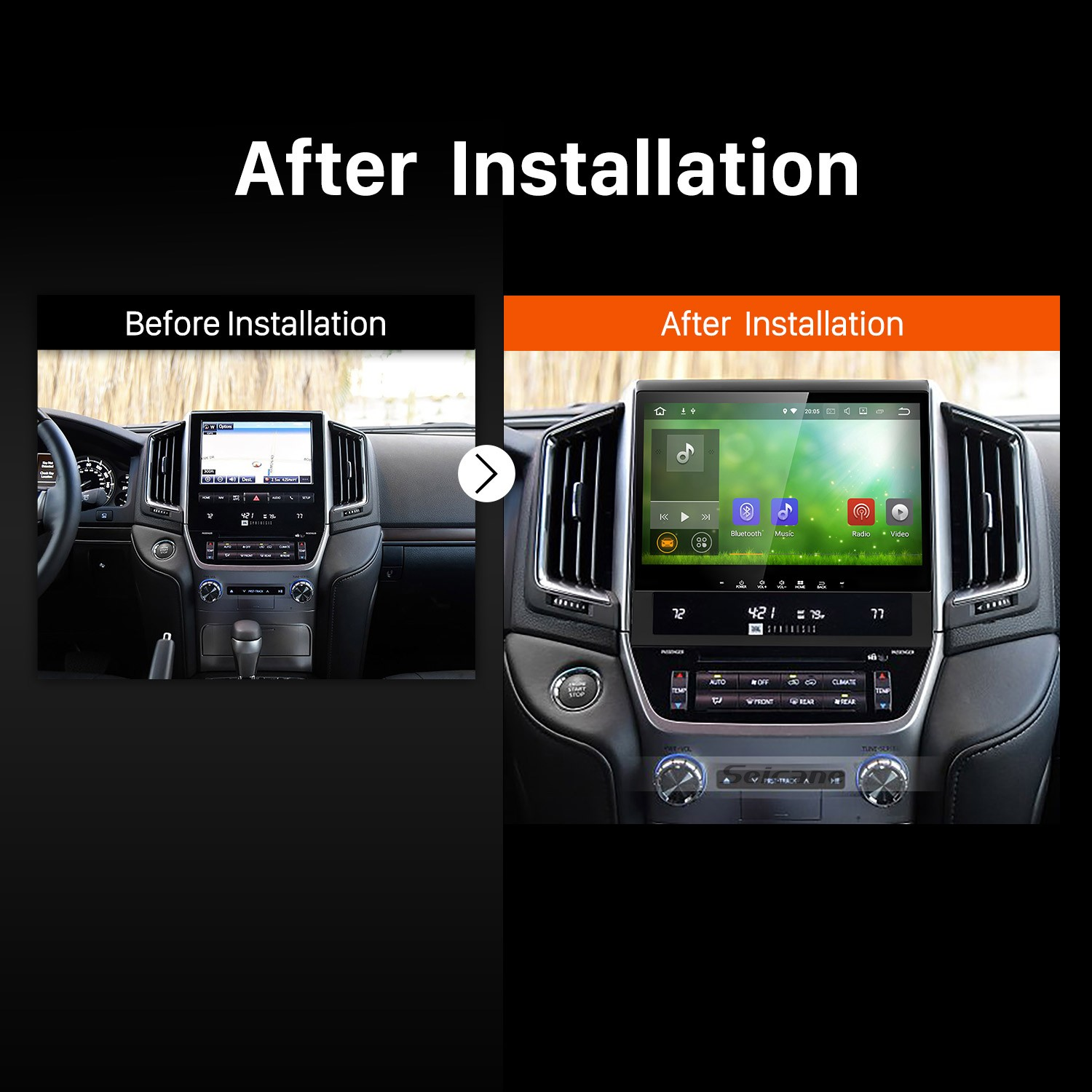 Toyota Land Cruiser Wiki >> How to Replace a 2016 Toyota Land cruiser 200 Bluetooth GPS Car Radio with Radio Audio Speakers ...