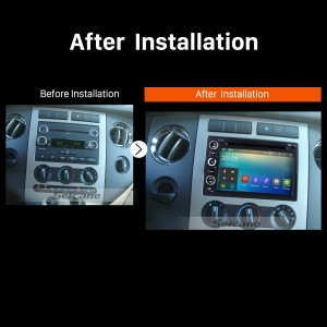 2006 2007 2008 2009 Ford Fusion 4-door Sedan Car Radio after installation