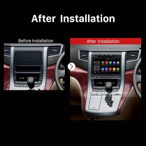 2007 2008 2009 2010 2011-2014 TOYOTA Alphard Vellfire 350Z G Bluetooth DVD GPS Car Radio after installation