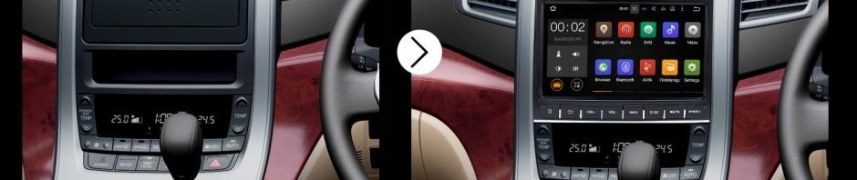 2007 2008 2009 2010 2011-2014 TOYOTA Alphard Vellfire 350Z G Bluetooth DVD GPS Car Radio after installation