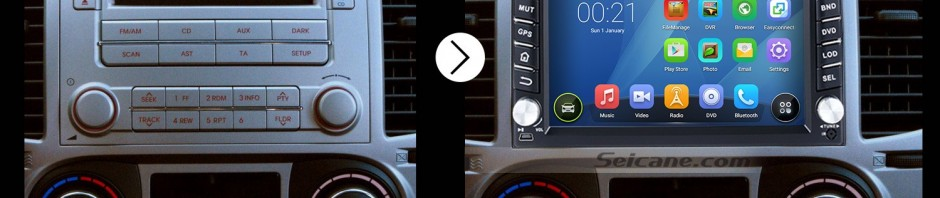 2007 2008 2009 2010-2011 Nissan SENTRA Car Stereo after installation