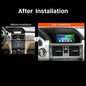 2013 2014 2015-2016 Mercedes Benz GLK X204 Left Hand Drive GPS Bluetooth after installation