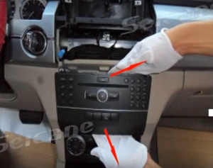 Take the original car radio out from the dashboard