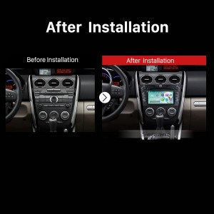 2007 2008 2009 2010 2011-2014 Mazda CX-7 GPS Bluetooth Car Radio after installation