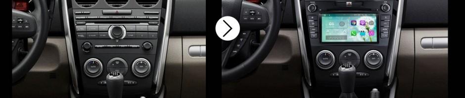 2007 2008 2009 2010 2011-2014 Mazda CX-7 GPS Bluetooth Car Radio after installation