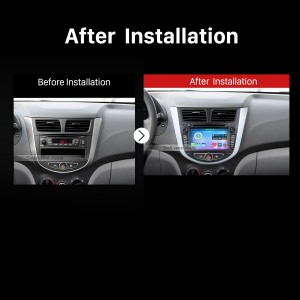 2011 onward Hyundai Grand Avega Hatchback Multifunctional Car Stereo after installation