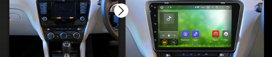 2012 2013 2014 2015 Skoda OCTAVIA car radio after installation