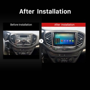 2010 2011 2012 2013 2014-2017 Lada Vesta Car Stereo after installation