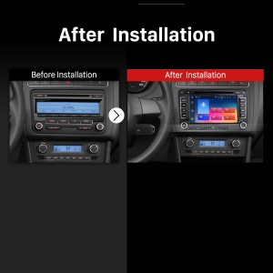 2006 2007 2008 2009 2010-2012 VW VOLKSWAGEN MAGOTAN  GPS Bluetooth Car Radio after installation