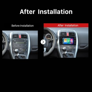 2008 2009 2010 2011 Toyota Auris GPS Navi Car Stereo after installation