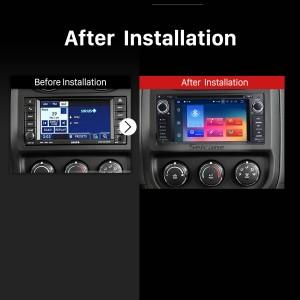 2008 2009 2010 Jeep Commander car radio after installation