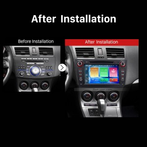 2009 2010 2011 2012 Mazda 3 Car Stereo after installation