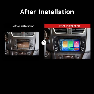 2011 2012 2013 Suzuki Swift car radio after installation