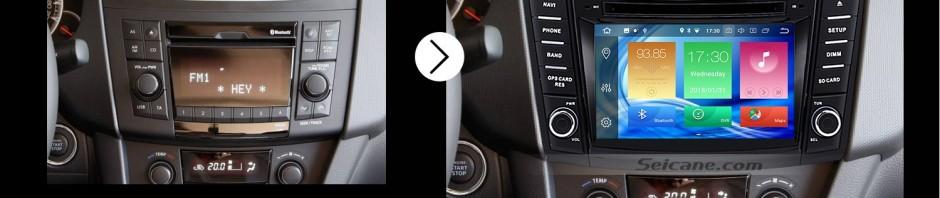 2011 2012 2013 Suzuki Swift car radio after installation