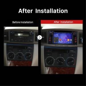 2003 2004 2005 2006 2007 Toyota Corolla E120 BYD F3 car stereo after installation