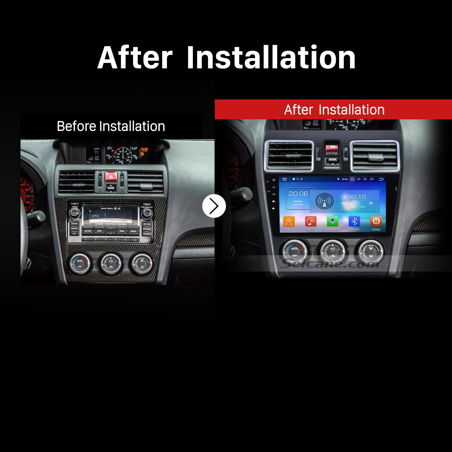 Subaru Forester Car Radio After Installation on backup camera installation