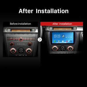 2004 2005 2006 2007-2009 Mazda 3 Radio after installation
