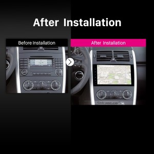 2004 2005 2006 2007-2012 Mercedes Benz B W245 B150 B160 B170 B180 B200 B55 Car Radio after installation
