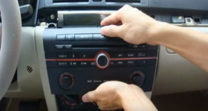Take out the original car radio