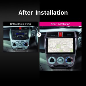 2011 2012 2013 2014-2016 Honda CITY car radio after installation