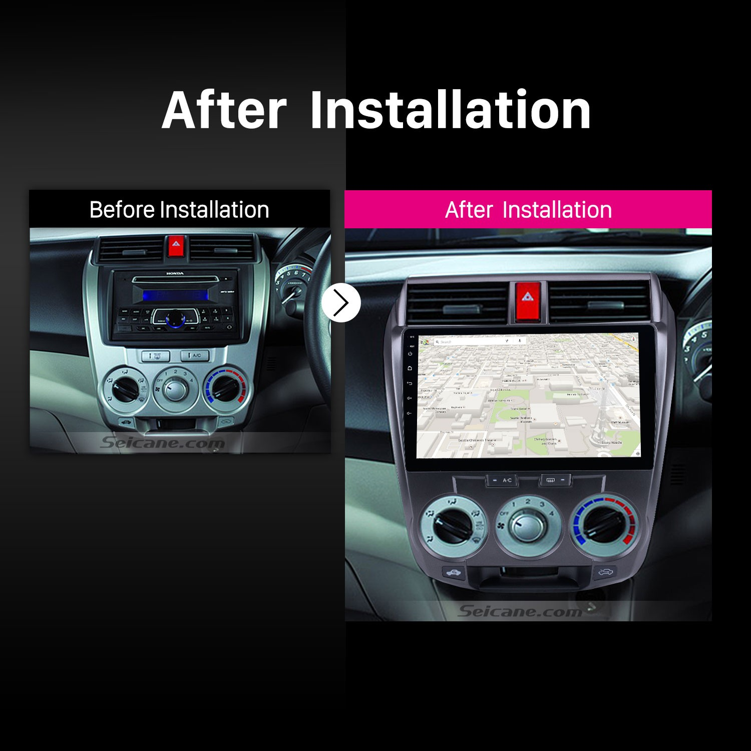 Best Remove And Upgrade Tutorial For A 2011 2012 2013 2014 2016 Honda City Gps Navigation Audio Aux Bluetooth Car Radio Car Stereo Wiki