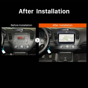2013 2014 2015 2016 KIA K3 Car Stereo after installation