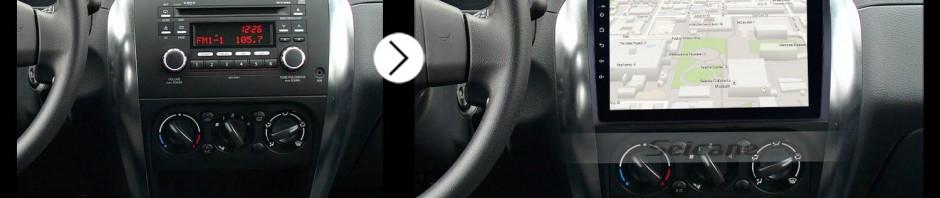 2006 2007 2008 2009 2010-2012 Suzuki SX4 car radio after installation
