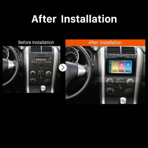 2005 2006 2007 2008-2013 Suzuki Vitara Car Stereo after installation