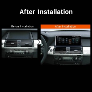 2007 2008 2009 2010 BMW X5 E70X6 E71 GPS Bluetooth Car Radio after installation